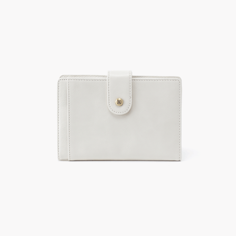 Pax White Leather Passport Wallet