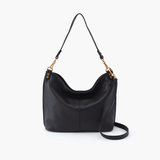 Pier Black Leather Large Crossbody