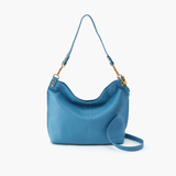 Pier Blue Leather Large Crossbody