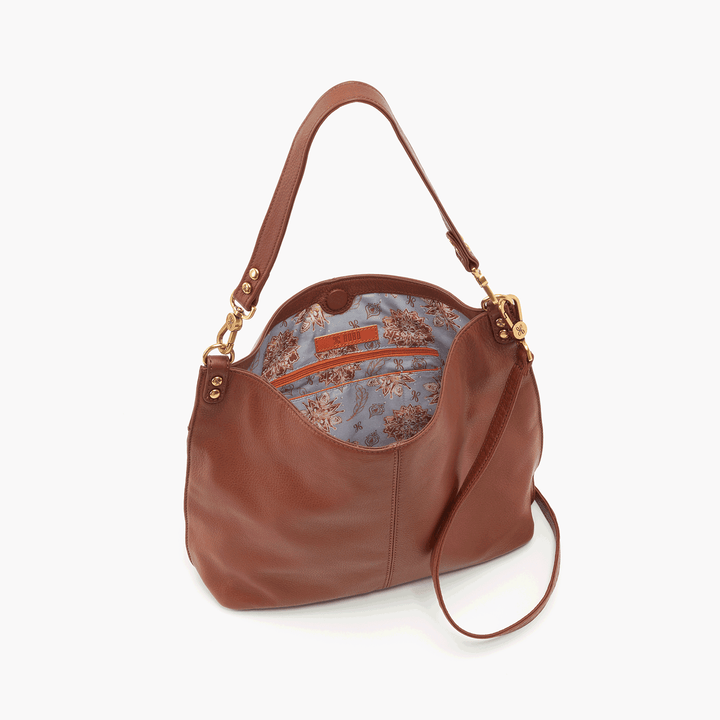 Pier Brown Leather Large Crossbody