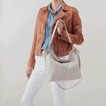 Pier White Leather Large Crossbody