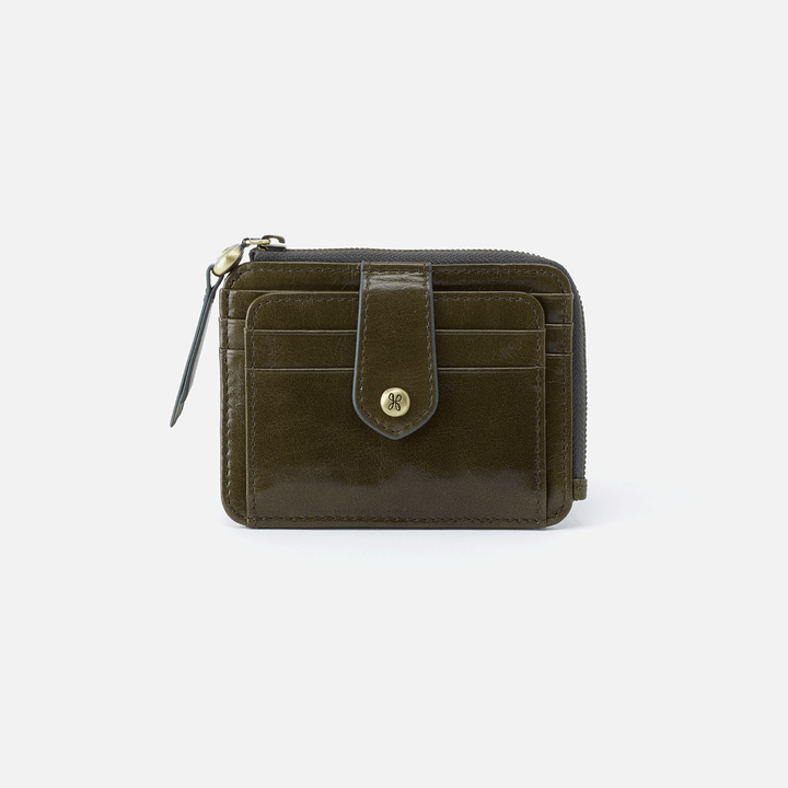 Poco Green Leather Credit Card Wallet