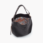 Port Black Leather Hobo Style
