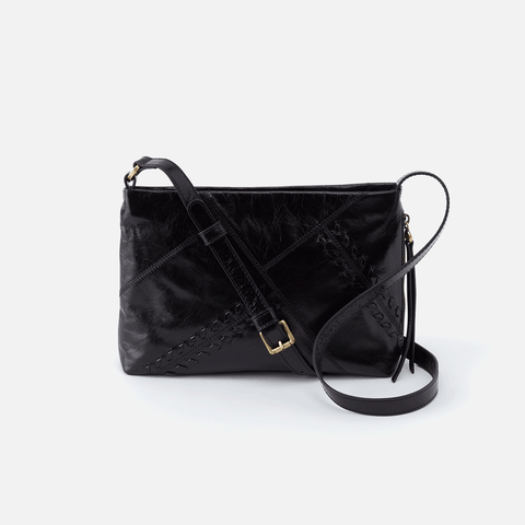 Prairie Black Leather Crossbody