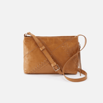 Prairie Cognac Brown Leather Crossbody