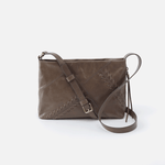 Prairie Grey Leather Crossbody