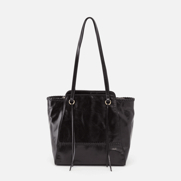 Praise Black Leather Tote Bag