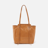 Praise Cognac Brown Leather Tote Bag