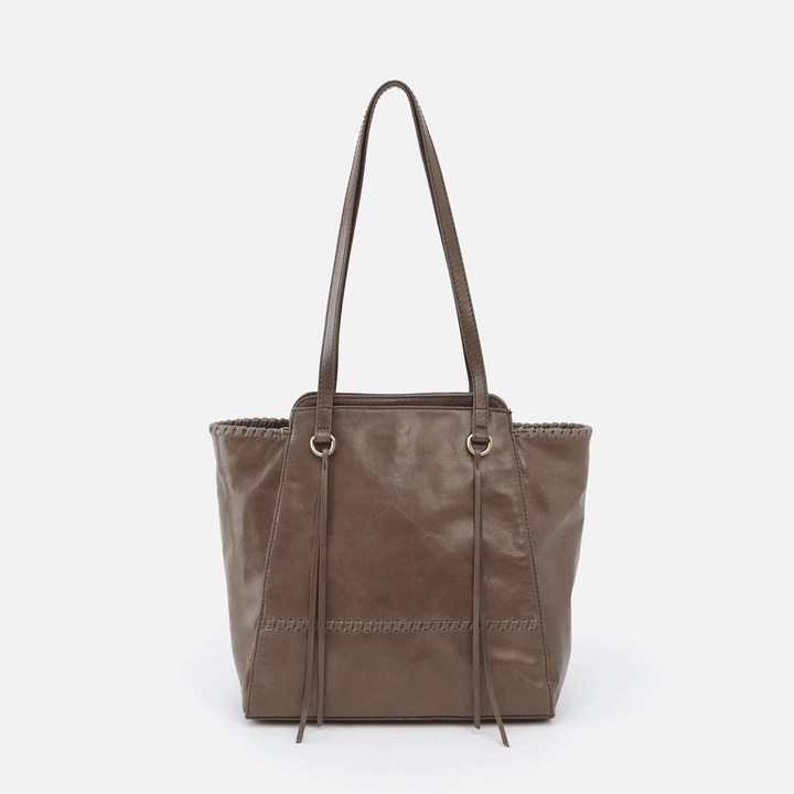 Praise Grey Leather Tote Bag