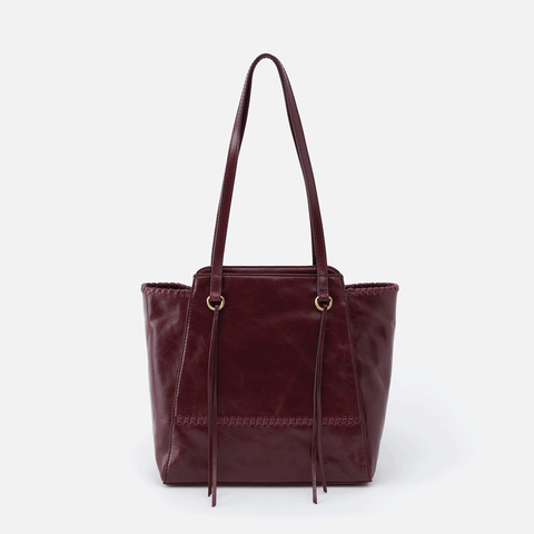 Praise Purple Leather Tote