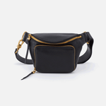 Pulse Black Leather Belt Bag