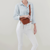 Pulse Toffee Leather Belt Bag