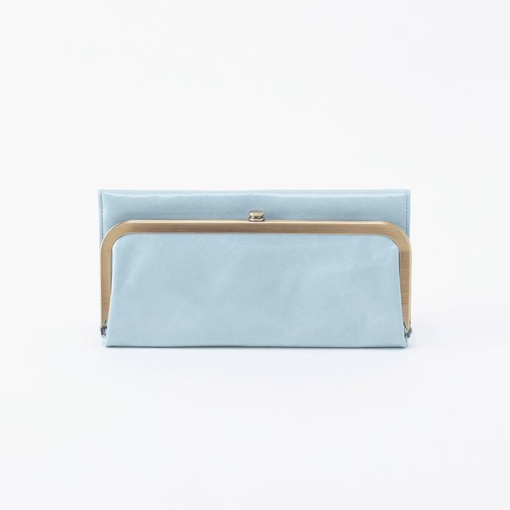 Rachel Blue Leather Large Wallet