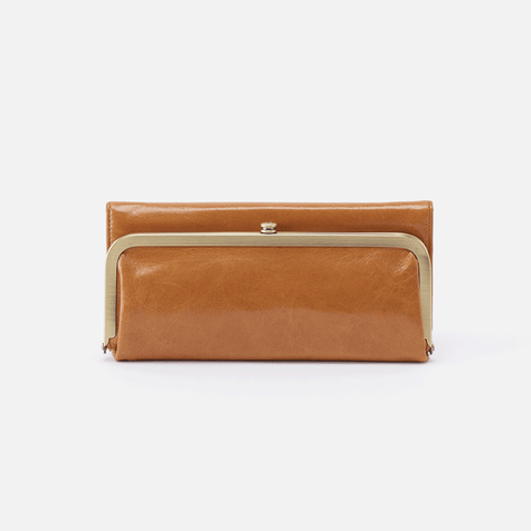 Rachel Cognac Brown Leather Large Wallet