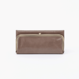 Rachel Grey Taupe Leather Large Wallet