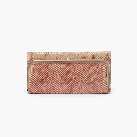 Rachel Print Leather Large Wallet