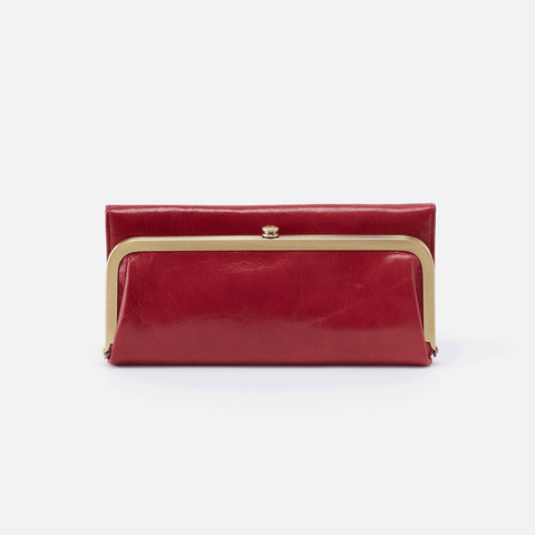 Rachel Red Leather Large Wallet