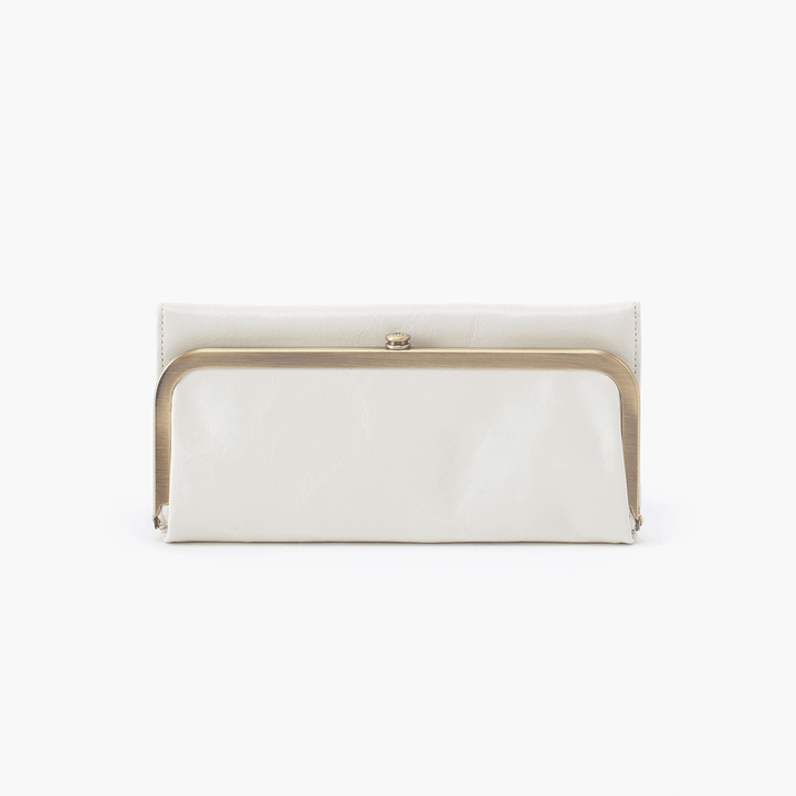 Rachel White Leather Large Wallet