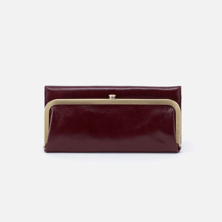 Deep Plum Rachel Continental Wallet  Hobo
