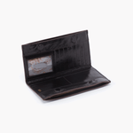 Rail Black Leather Large Wallet