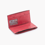 Rail Pink Leather Large Wallet