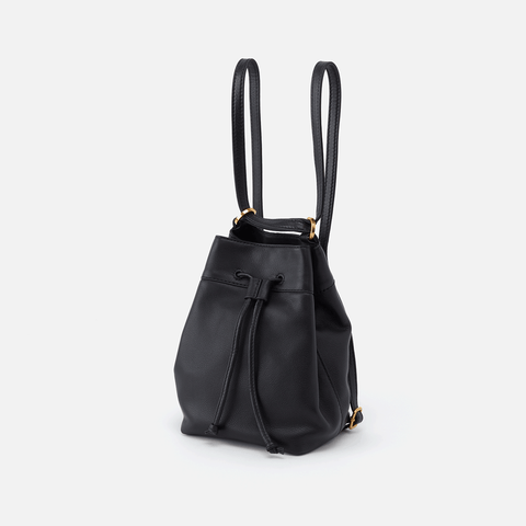 Ramble Black Leather Backpack