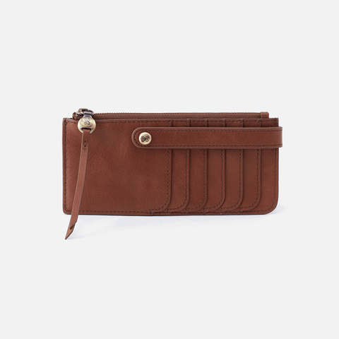 Range Brown Leather Credit Card Wallet