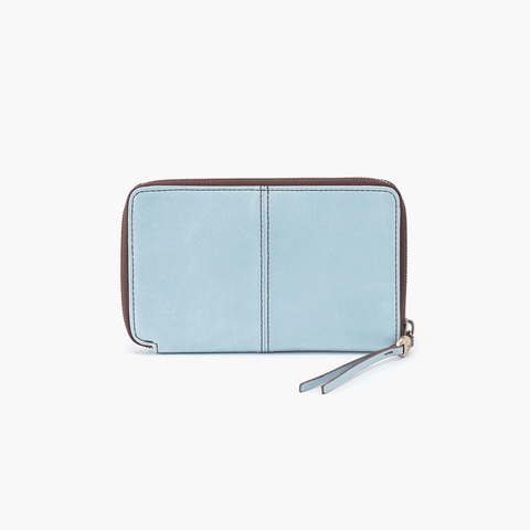 Rave Blue Leather Wallet