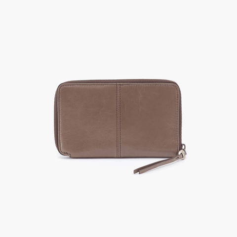 Rave Grey Taupe Leather Wallet