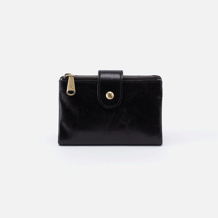 Ray Black Leather Small Wallet