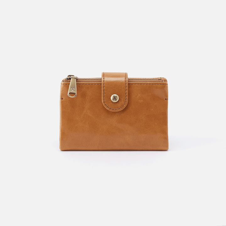 Ray Cognac Brown Leather Small Wallet