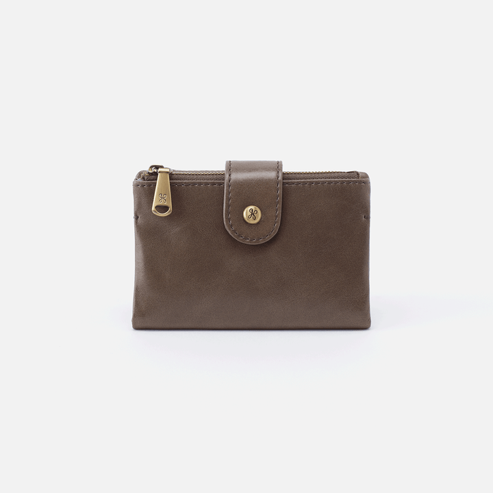 Ray Grey Leather Small Wallet