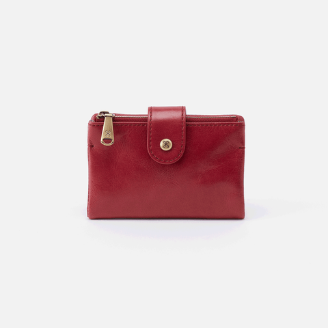 Ray Red Leather Small Wallet