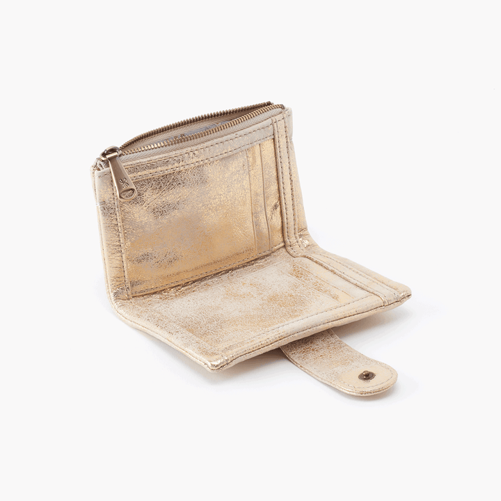 Ray Gold Leather Wallet