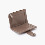 Ray Grey Taupe Leather Wallet