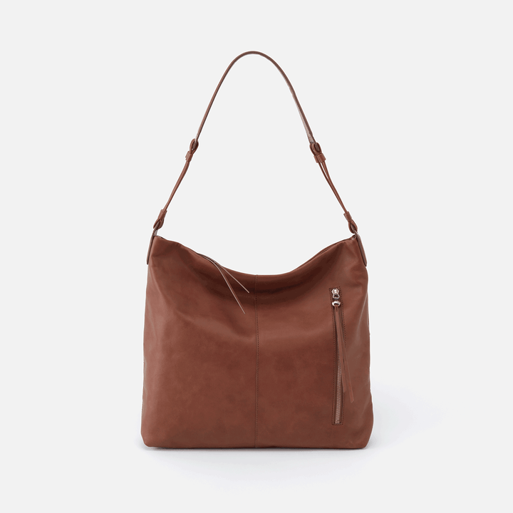 Realm Brown Leather Hobo Shoulder Bag