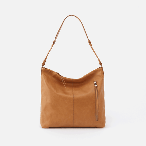 Realm Cognac Brown Leather Hobo Shoulder Bag