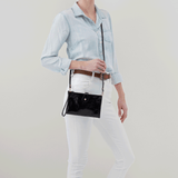 Reveal Black Leather Crossbody