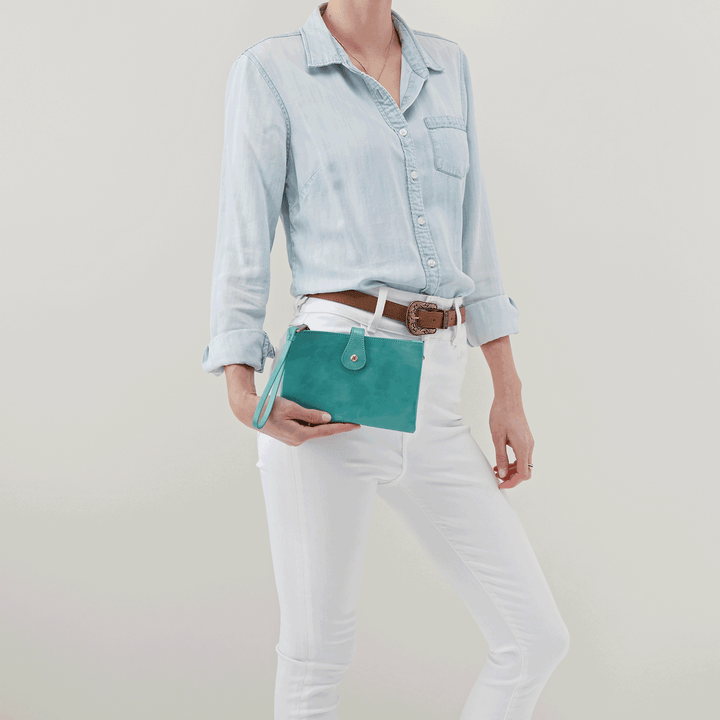Reveal Seafoam Leather Crossbody