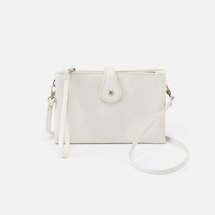 Reveal Latte Leather Crossbody