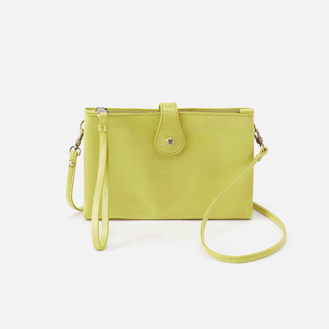 Reveal Lemongrass Leather Crossbody