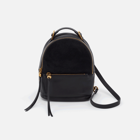 Revel Black Leather Convertible Backpack Crossbody