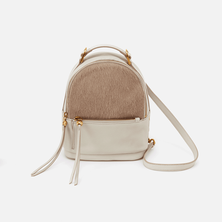 Revel White Leather Convertible Backpack Crossbody