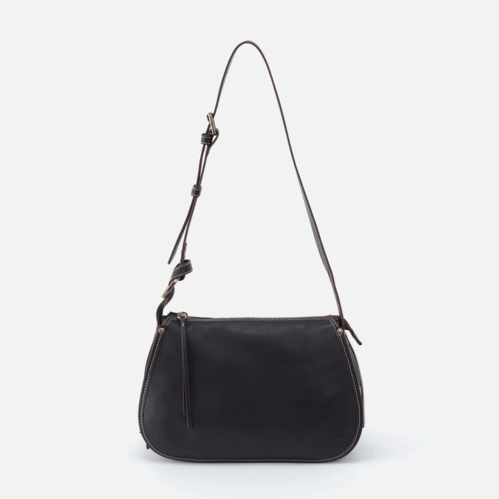 Ridge Black Leather Shoulder Bag