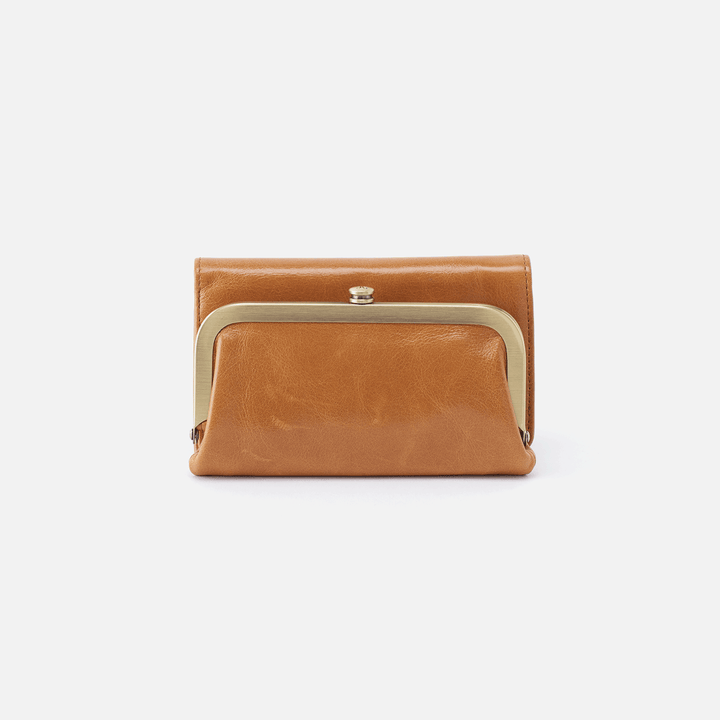 Riva Cognac Brown Leather Small Wallet