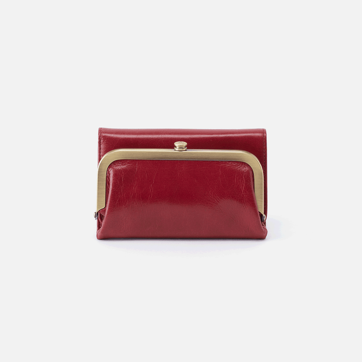 Riva Red Leather Small Wallet