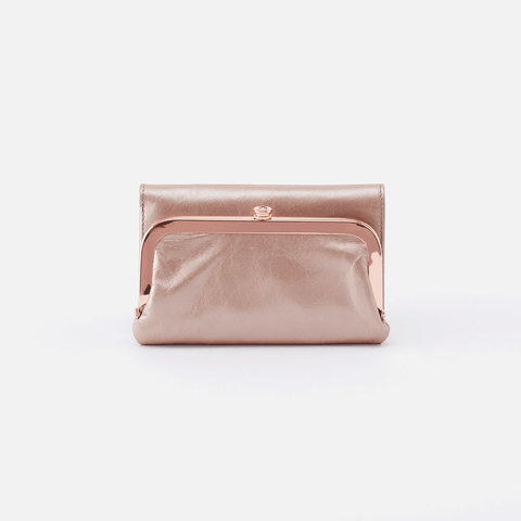 Riva Rose Gold Leather Small Wallet
