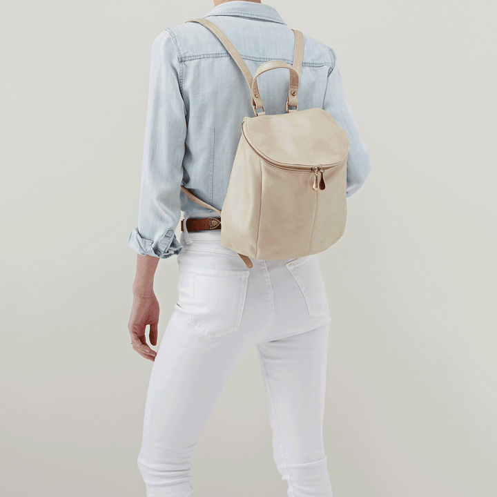 River Sandshell Leather Backpack