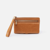 Roam Cognac Brown Leather Clutch-Wristlet