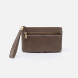 Roam Grey Leather Clutch-Wristlet